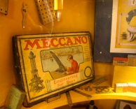 Early Meccano, a toy I wanted to ask for as a kid but thought I couldn't. Because it was a 'boy' toy.
