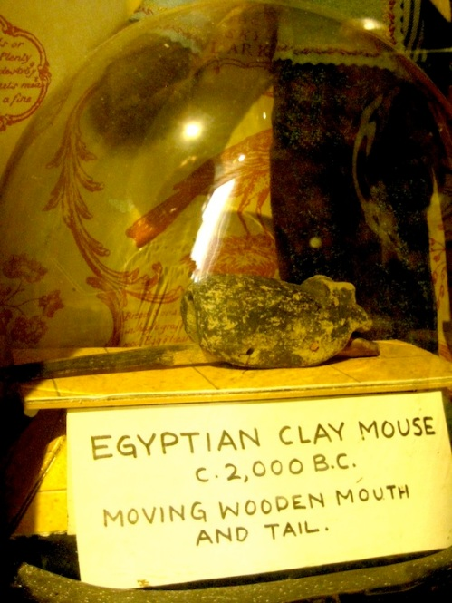 A 4000 yr old articulated toy mouse, recently authenticated.