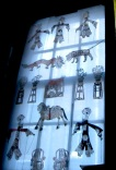These shadow puppets are very beautiful but definitely lose something when you learn what they are made from. Donkey skin!