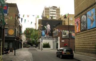 Art installations on Whitecross St