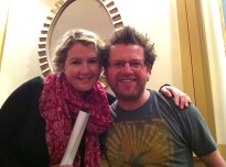 Niamh Sharkey and Dave O'C