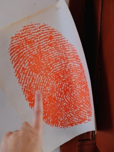 Oversize thumbprint!