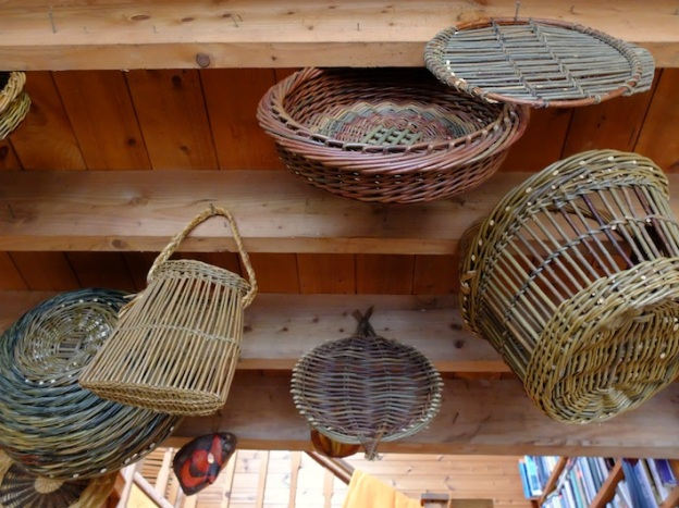 Some traditional baskets in Joe and Dolores' house (where we had a yummy lunch every day) including a Catalan fish platter which Mags, Ann and Mark had a go at on our last day. They looked fantastic.