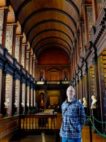 The tall fella in the Long Room