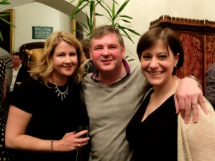 Niamh Sharkey, Darren Shan, Darren's wife, Bas