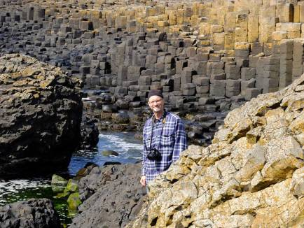 Michael amongst the basalt columns