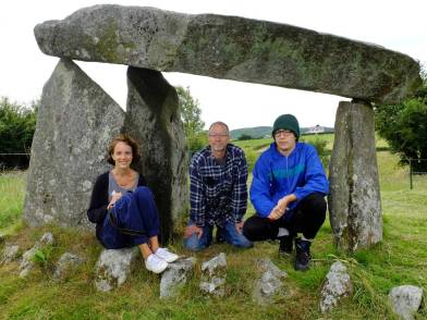 Ballykeel Dolmen, known as The Hag's Chair