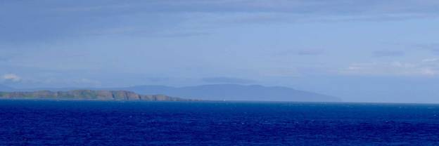 Scotland! The blue behind Rathlin Island is the Mull of Kintyre. Yep, now you'll be humming it all day...