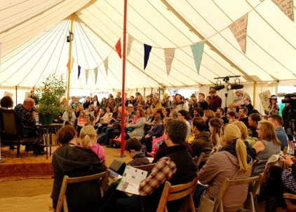 the Literary Stage tent, Saturday