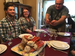 Snow crab dinner with all the Frye Fest folk. A lovely final evening.